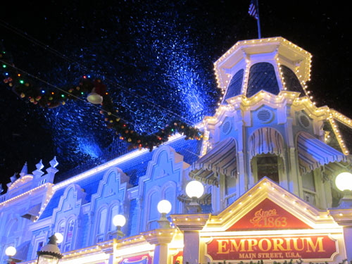 Snow on Main Street USA. Priceless!