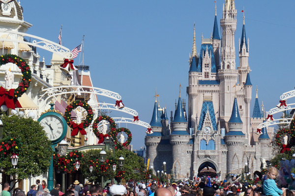 Christmastime crowds can be a bit shocking if you're not prepared at Disney!
