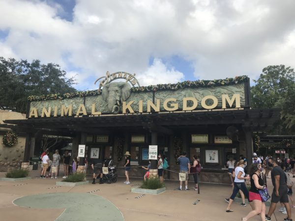 Check out the garland above the ticket booths.