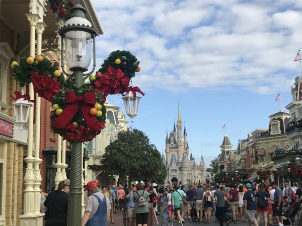 A look down Main Street USA at Christmas!