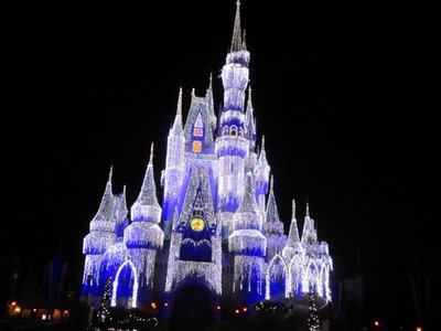 And at the end of Main Street is the Castle, covered in beautiful Dream Lights.