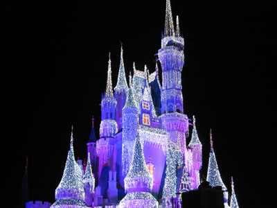 The Castle Dream Lights bring a special sparkle to the Magic Kingdom.