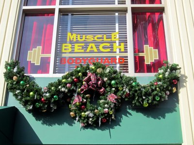 Muscle Beach Window - Christmas at Diseny's Hollywood Studios