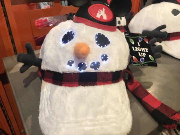 Light up snowman hat wearing Mickey ears - $34.99