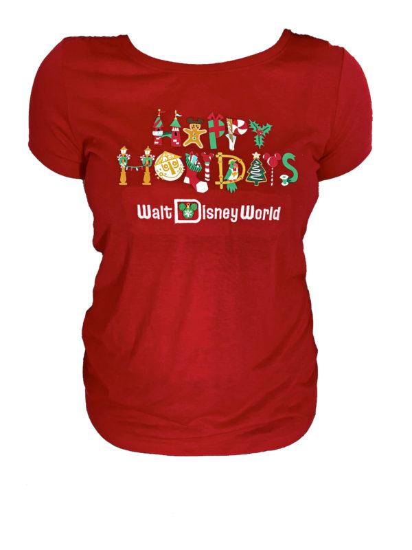 Happy Holidays Walt Disney World shirt. Photo credits (C) Disney Enterprises, Inc. All Rights Reserved