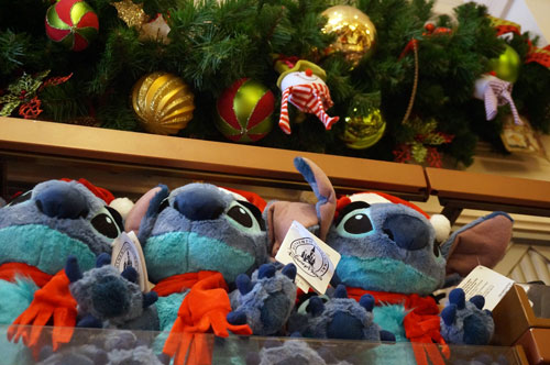 Stitch is in the mood for the season.