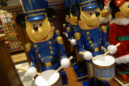 Blue Mickey Mouse nutcracker.