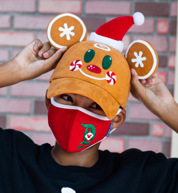 Gingerbread man, Santa, and Mickey ear baseball cap. Photo credits (C) Disney Enterprises, Inc. All Rights Reserved