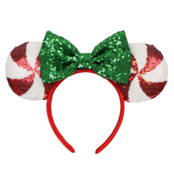Candy cane Minnie Mouse ears. Photo credits (C) Disney Enterprises, Inc. All Rights Reserved