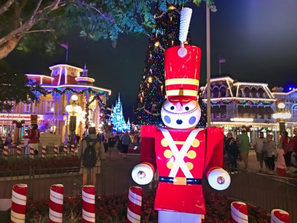 The Magic Kingdom looks especially festive during the Christmas Party!