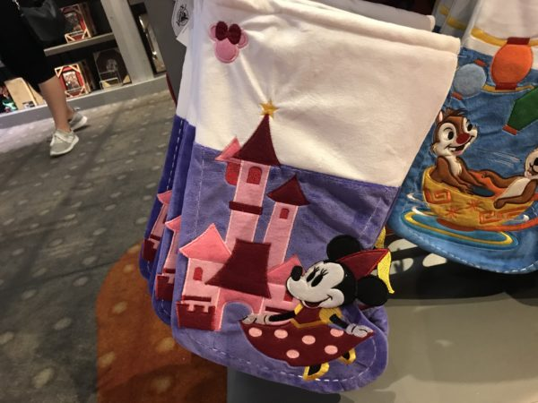 A variety of characters appear on the stockings including Minnie Mouse and Chip & Dale!