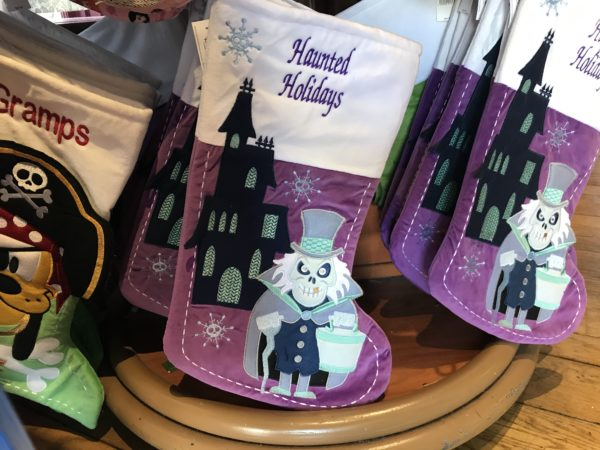If haunted things are more your style, check out this Haunted Mansion-themed stocking!