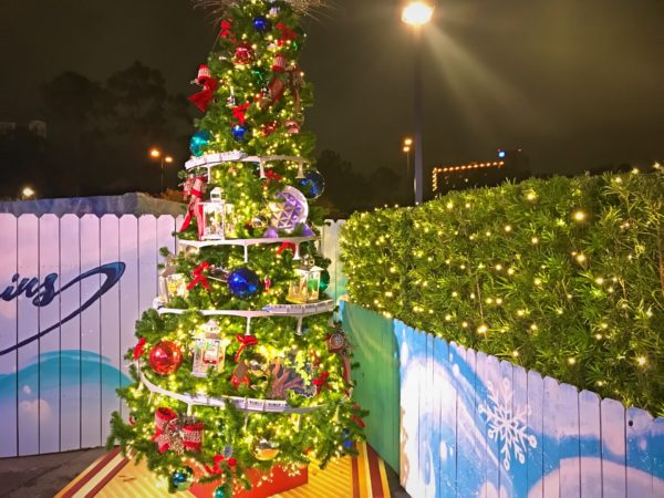 This Christmas Tree celebrates all of the transportation systems featured around Walt Disney World.