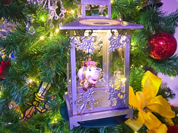 Our favorite little tea cup ornament featured on the Beauty and the Beast tree.
