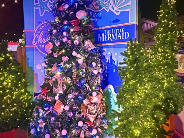 The Little Mermaid themed Christmas Tree.