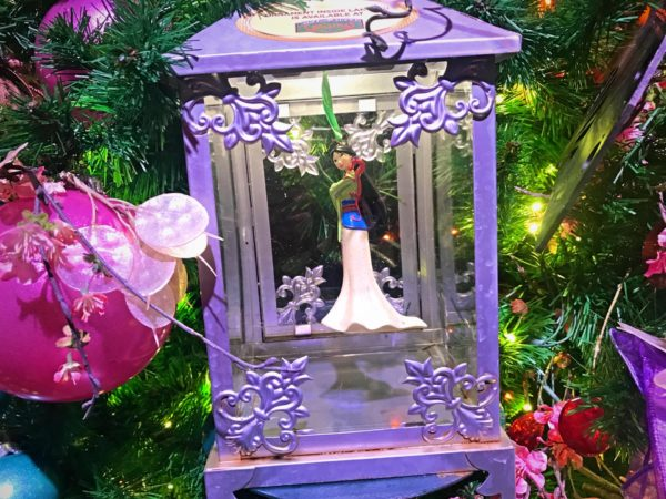 Stunning Princess Mulan ornament.