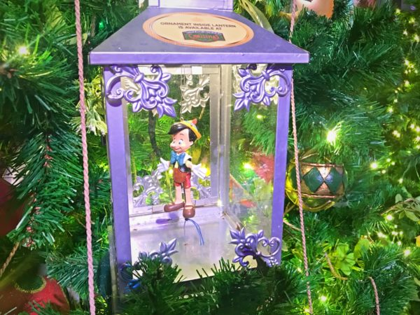 It's not a Pinocchio themed tree without the little boy himself.