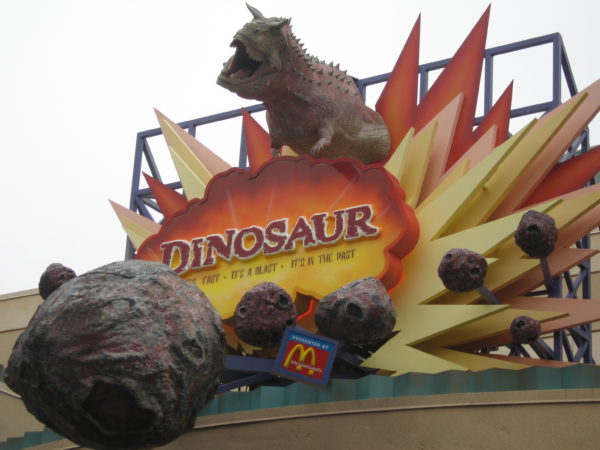 Dinosaur features large dinosaur animatronics that are pretty lifelike and can be kind of scary.