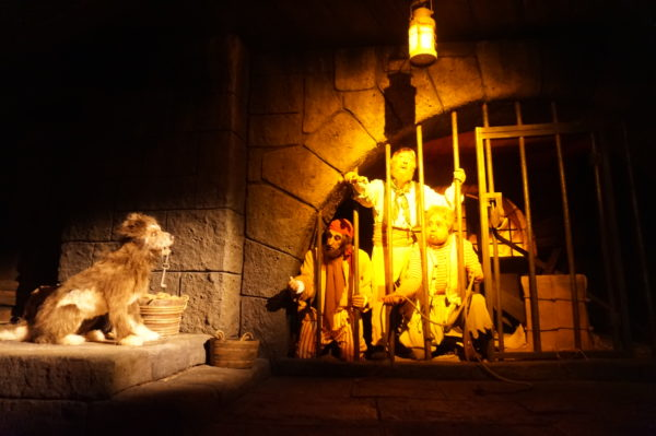 Pirates of the Caribbean had dozens of audio animatronics to tell the story of the unfortunate pirates!