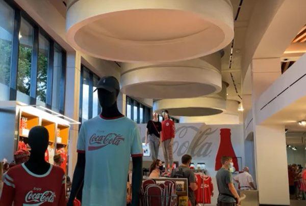 You will find plenty of Coke logo merchandise.