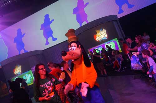Goofy was a big hit in the party.