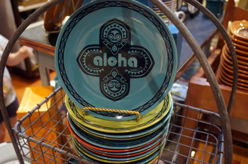 You will find fun merchandise that references Disney parks, like this Polynesian plate.