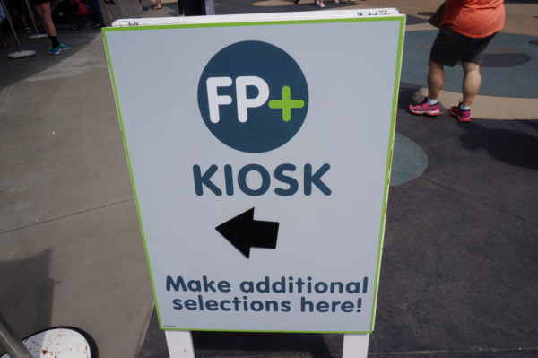 Guests in Disney World can make FP+ reservations on the MyDisneyExperience app or at one of the FP+ Kiosks.
