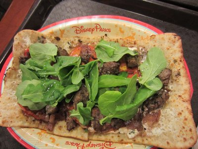The marinated beef flat bread is wonderful.