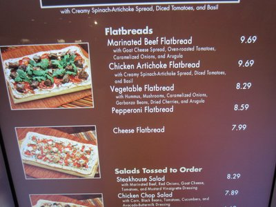 Contempo menu board.