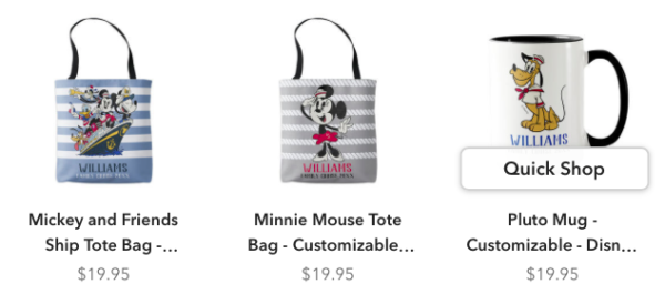 You can even customize totes and coffee mugs!