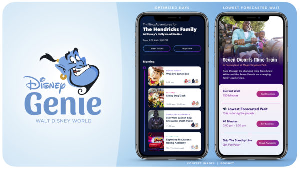 A new planning called Disney Genie will help guests customize their Walt Disney World Resort vacations in Florida with daily itineraries tailored to guests' interests. Photo credits (C) Disney Enterprises, Inc. All Rights Reserved