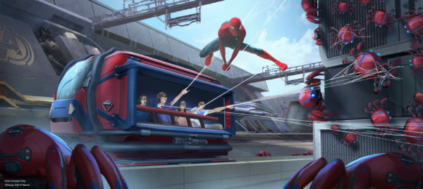 New Spider Man attraction at Disneyland. Photo credits (C) Disney Enterprises, Inc. All Rights Reserved