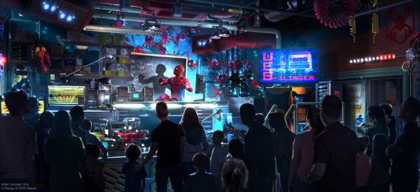 Disney will open the first Disney ride-through attraction to feature Spider-Man in Disneyland. Photo credits (C) Disney Enterprises, Inc. All Rights Reserved