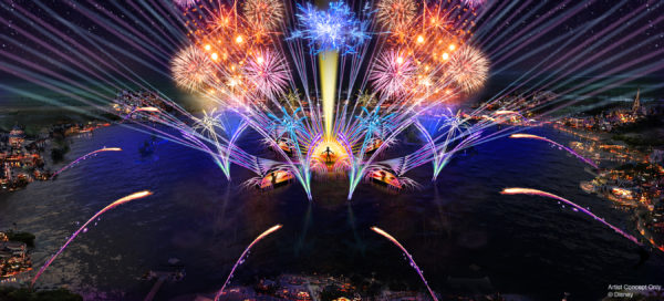 """HarmonioUS"" will debut at Epcot as the largest nighttime spectacular ever created for a Disney park. Photo credits (C) Disney Enterprises, Inc. All Rights Reserved"