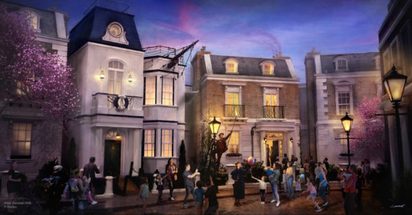 Epcot's United Kingdom pavilion will welcome the first attraction inspired by Mary Poppins. Step in time down Cherry Tree Lane! Photo credits (C) Disney Enterprises, Inc. All Rights Reserved