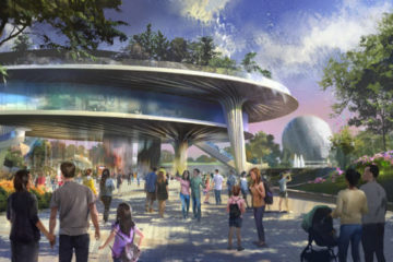 EPCOT will rework the World Celebration neighborhood. This could mean a change, delay, or cancellation of the new Festival Center building. Photo credits (C) Disney Enterprises, Inc. All Rights Reserved