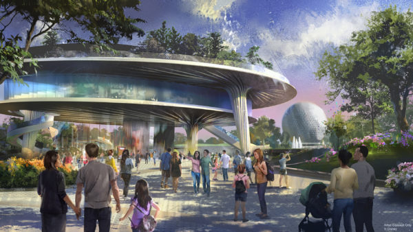 A new pavilion will be home base for Epcot's signature festivals. The beautiful three-level structure will feature a plaza level, a middle expo level, and a park that sits in the sky on the top level, complete with a stunning view of World Showcase. Photo credits (C) Disney Enterprises, Inc. All Rights Reserved