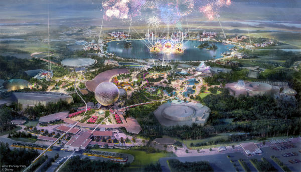 Epcot will be organized into four neighborhoods: World Showcase, World Discovery, World Celebration, and World Nature. Photo credits (C) Disney Enterprises, Inc. All Rights Reserved