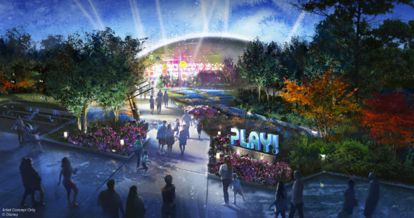 The PLAY! pavilion at Epcot will open in time for the 50th anniversary of Walt Disney World Resort. Photo credits (C) Disney Enterprises, Inc. All Rights Reserved