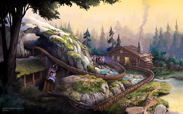 A new coaster called Wandering Oaken's Sliding Sleighs will take guests on a winding journey through the story of Frozen. Photo credits (C) Disney Enterprises, Inc. All Rights Reserved