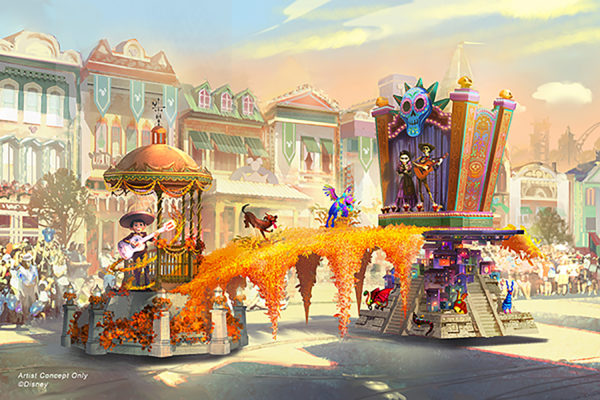 Coco float concept art. Photo credits (C) Disney Enterprises, Inc. All Rights Reserved