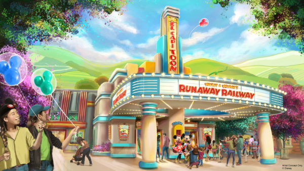 Mickey & Minnie's Runaway Railway will be located in a new area of Mickey's Toontown at Disneyland Park in California. Photo credits (C) Disney Enterprises, Inc. All Rights Reserved
