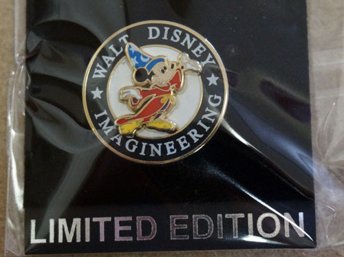 Walt Disney Imagineering limited edition trading pin.