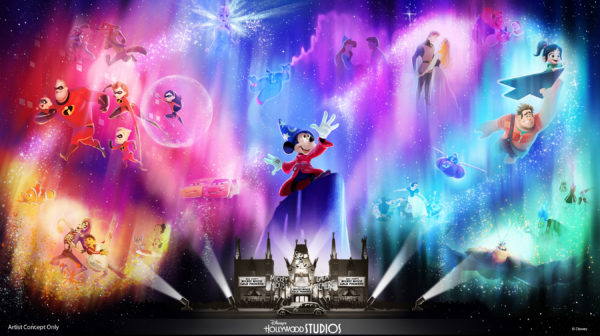Wonderful World of Animation – a new nighttime spectacular coming to Disney's Hollywood Studios in May 2019 – will use state-of-the-art technology to take guests on a magical journey through more than 90 years of Disney animation. Photo credits (C) Disney Enterprises, Inc. All Rights Reserved