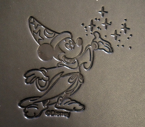 Imagineering notebook with embossed Mickey Mouse.