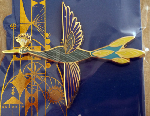 Colorful limited edition Disney Trading pin celebrating the Tower of the Four Winds: bird.