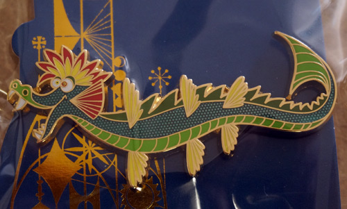 Colorful limited edition Disney Trading pin celebrating the Tower of the Four Winds: dragon.