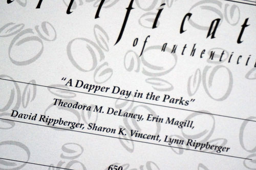 """This art is titled """"A Dapper Day in the Parks."""""""