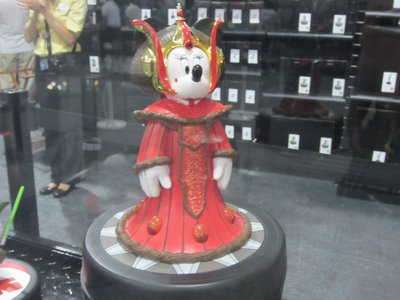 You can purchase many collectables, like Minnie Mouse as Princess Amidala.