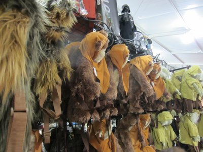 Plenty of fun things to buy, like these Ewok back packs.